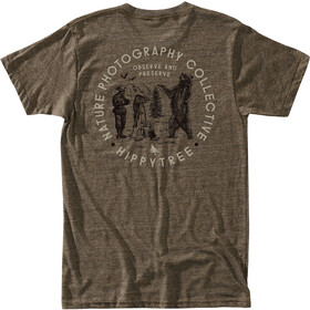 Hippy Tree Viewfinder Camiseta Hombre, heather brown